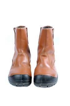 A Pair Of Brown Leather Boots Stock Images