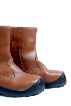 A Pair Of Brown Leather Boots Royalty Free Stock Image