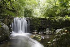 Free Waterfall In A Mountain River Royalty Free Stock Image - 20141036