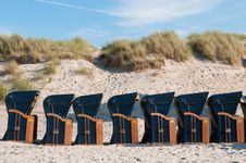 Canopied Beach Chairs Stock Photography