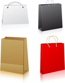 Free Set Of Shopping Bags. Stock Photo - 20141630