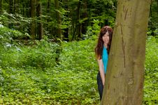 Free The Girl In The Woods Stock Photos - 20142233