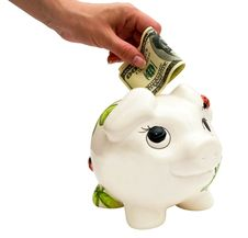 Free Piggy Bank And Dollar Stock Image - 20142271