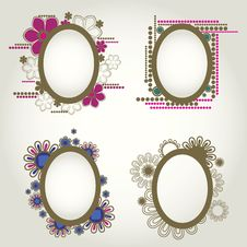 Free Vintage Frames With Flowers Royalty Free Stock Images - 20142409