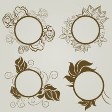 Free Vector Set Of Vintage Frames Stock Images - 20142414
