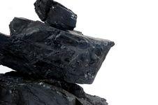 Pile Lumps Of Coals Stock Photo