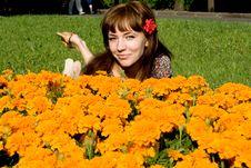 Free Beautiful Girl Lying On Meadow Royalty Free Stock Photo - 20143085