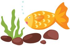 Free Cartoon Fish And Coral Stock Photography - 20143942