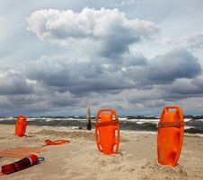 Free Lifeguard Equipment Royalty Free Stock Photos - 20144208