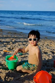 Free Adorable Hispanic Boy By The Pool Royalty Free Stock Photo - 20144635