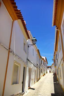 Street Of Alegrete Village. Stock Photo