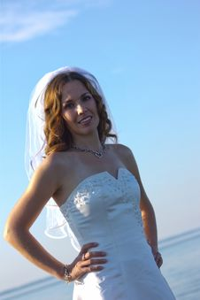 Free Bride At Beach Stock Images - 20145154