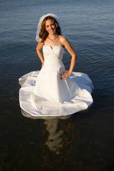 Free Bride In Water Royalty Free Stock Photos - 20145208