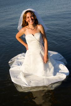 Free Bride In Water Stock Images - 20145224
