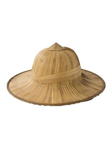 Free Tropical Straw Pith Helmet Royalty Free Stock Photography - 20145537