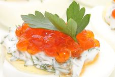 Free Caviar Salmon Species In Chicken Egg Stock Photo - 20145860