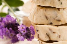 Free Handmade Soap With Lavender Flowers Royalty Free Stock Photos - 20146138