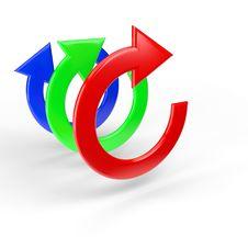 Free RGB 3D Arrows Stock Image - 20146221