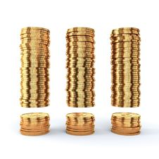 Free Golden Coins Stock Photo - 20146260