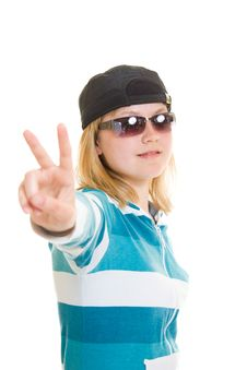 Cool Teen Royalty Free Stock Image