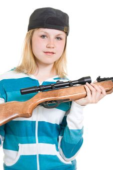 Free A Teenager With A Gun Royalty Free Stock Photos - 20146678