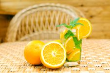Free Glass Of Limonade With Oranges Royalty Free Stock Photo - 20147085