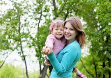 Free Portrait Of Mother With Daughter Outdoor Stock Photography - 20147352