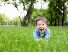 Free Portrait Of A Little Boy Outdoors Stock Images - 20147384