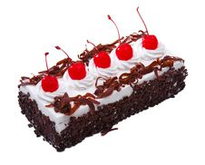 Free Chocolate Cake Topping With Cherry Royalty Free Stock Images - 20147409