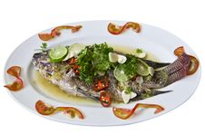 Free Steamed Fish With Lemon. Stock Images - 20147654