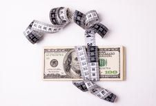 Free Money Measurment Royalty Free Stock Photography - 20147677