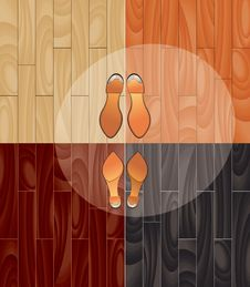 Parquet And Shoes Royalty Free Stock Photo