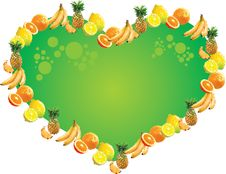 Free Tropical Fruit Label - Heart Royalty Free Stock Photo - 20147785