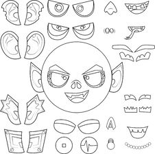 Free Monster Head Royalty Free Stock Photos - 20148108