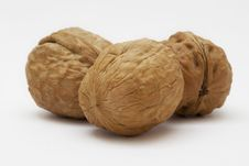 Free Organic Nuts On A White Background Royalty Free Stock Images - 20148349