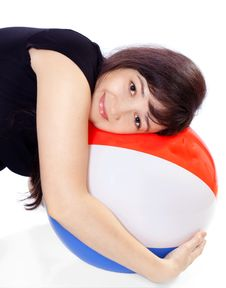 Free Beautiful Girl With Ball Stock Photo - 20148360