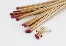 Free Large And Small Matches Royalty Free Stock Photos - 20148508
