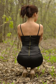Free Back Of A Female Stock Images - 20148754