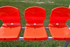 Free Three Red Seat Royalty Free Stock Photos - 20148888