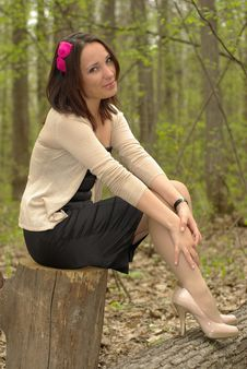 Free Female On A Stump Stock Images - 20149104
