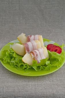 Melon With Parma Ham Stock Image