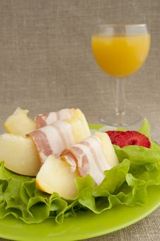 Free Melon With Parma Ham Stock Photo - 20149180