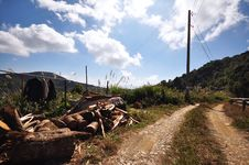 Local Village Dirt Road Mountain Royalty Free Stock Image