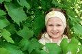 Free Girl Among The Vine Leaves Stock Image - 20151791