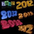Free 2012 Symbols Royalty Free Stock Photos - 20153928
