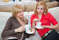 Free Two Young Women In Cafe Royalty Free Stock Photos - 20155568
