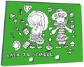 Free Kids Elements School Girls And Icons Royalty Free Stock Photo - 20156575