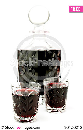 Alcohol in carafe Stock Photo