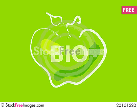 Three bio apples Stock Photo