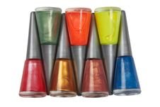 Free Bottles Of Nail Polish Stock Image - 20150251